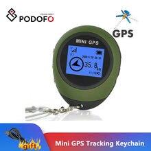 Podofo Mini GPS Trackerอุปกรณ์ติดตามแบบพกพาKeychain Locator Pathfindingรถจักรยานยนต์กีฬาพวงกุญแจมือถือ