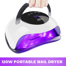 120W UV LED Lamp for Nails Curing UV Gel Nail Polish Nails Dryer Dual Hands LED UV Lamp For Manicure Nail Art Equipment