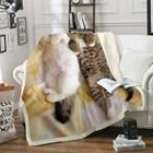 3D Cat Throw Blanket...