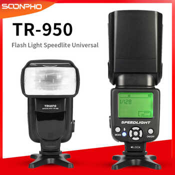 Triopo Tr-TR-950 Flash Light Speedlite Universale per Fujifilm Olympus Nikon D3400 Canon 650D 550D 450D 1100D 60D 7D 6D Telecamere