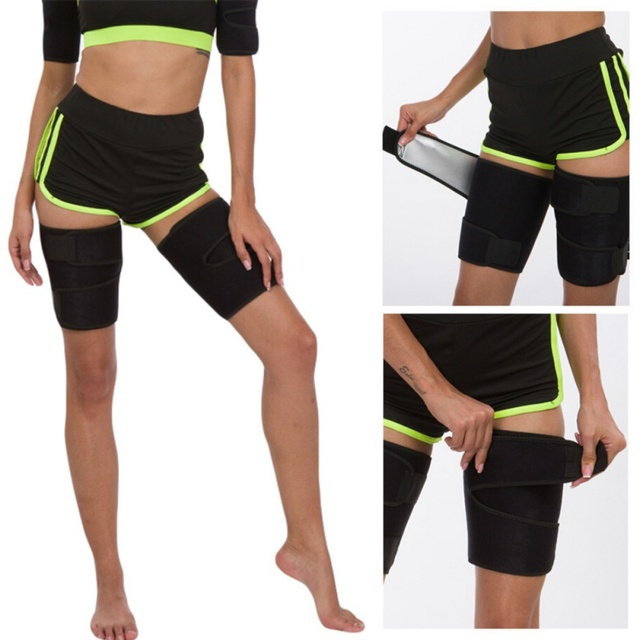 Leg Shaper Sauna Sweat Band Thigh Trimmers Calories Off Anti Cellulite Weight Loss Slimming Legs Fat Compress Belt Weight Loss C 4