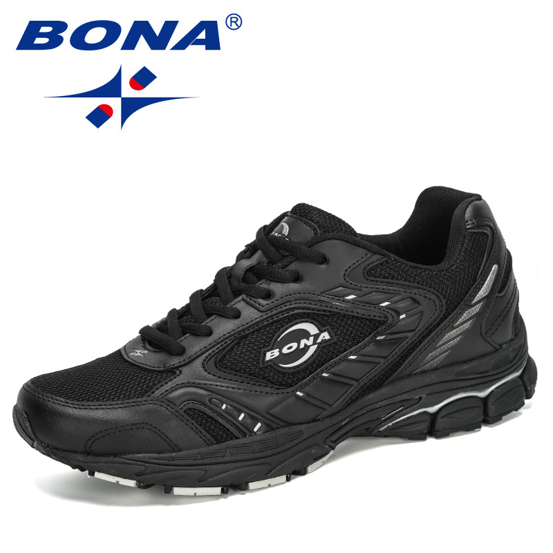 BONA 2020 New Designers Popular Running Shoes Men Mesh Shoes Fashion Casual No-slip Men Vulcanize Shoes  Masculino Trendy