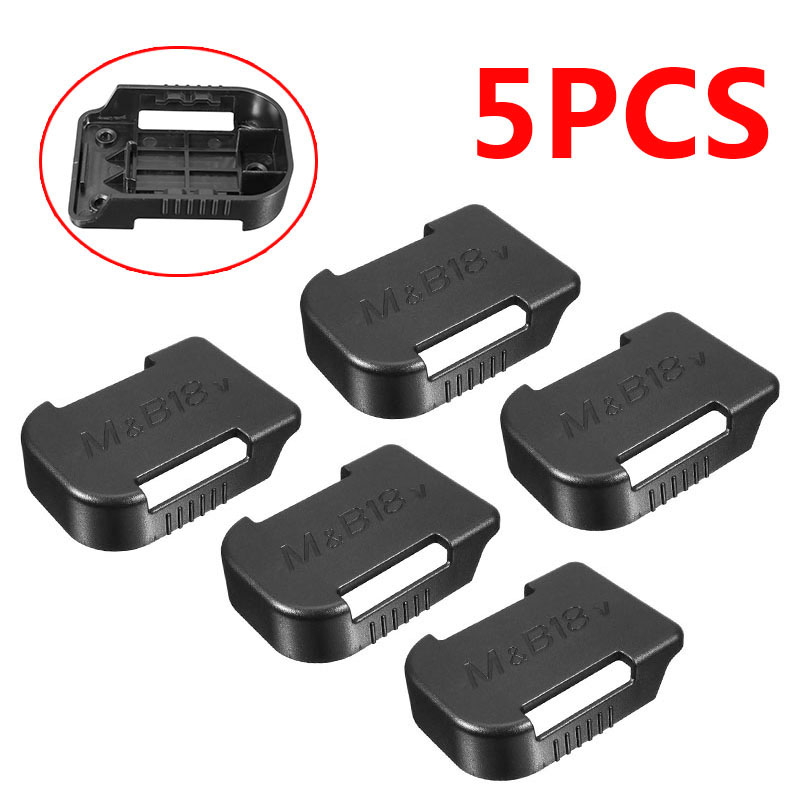 5pcs/set Black 18V Battery Mounts Storage Shelf Rack Stand Holder Set Shelf Rack Battery Stand Holder Slots Van Case For Makita
