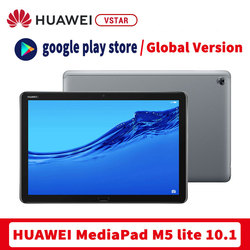 Глобальная Версия Оригинал HUAWEI Mediapad M5 Lite Wi-Fi (BAH2-W19) планшетный ПК 10,1 дюймов 4 Гб 64 ГБ Android 8,0 разблокировка по отпечатку пальцев