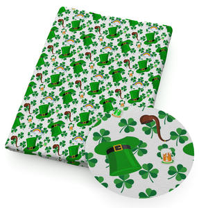 20*34cm St. Patricks Polyester & Cotton Fabric Patchwork For Sewing DIY Clothes Making