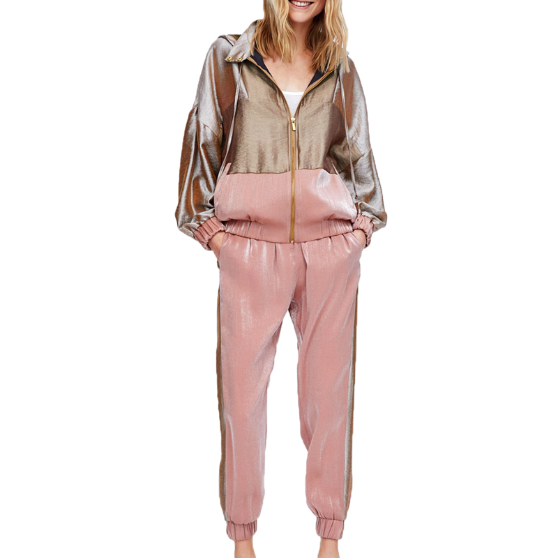 Pink Matching Tracksuit For Women Outfits 2 Piece Set Jacket Coat Pant Suits Co-ord Sets Sportsuits Fall 2piece Winter Clothing