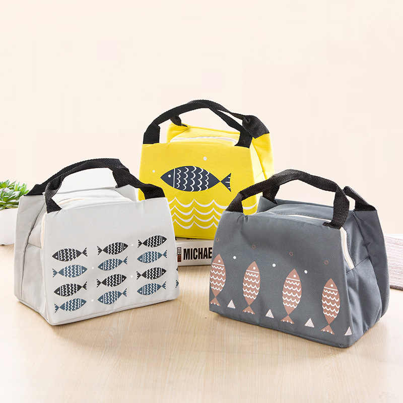 Female Lunch Food Box Bag Fashion Insulated Thermal Food Picnic for Women kids M