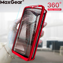 360 Full Protective i Phone Case For iPhone 6 S 6S 7 8 Plus X XR XS Max 5 5S SE 8Plus Xsmax Hard Cover Tempered Glass Coque Case(China)