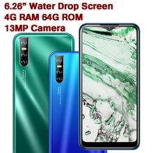 9s tela gota de água 4g ram 64g rom quad core smartphones celulares rosto desbloqueado telefones celulares android celulares transporte rápido