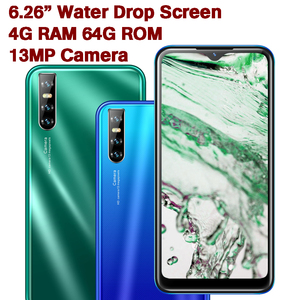 9S Water Drop Screen 4G RAM 64G ROM Quad Core Smartphones Cellphones Face Unlocked Mobile Phones Android Celulares fast shipping