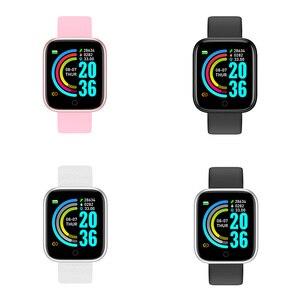 Image 5 - Смарт часы Y68 с фитнес трекером, водонепроницаемые, с Bluetooth