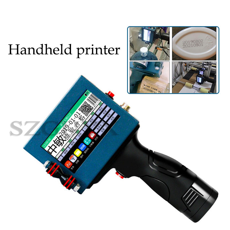 Commercial Automatic Food Production Date Laser Coding Machine Intelligent Handheld Printer Label Barcode QR Code Coding Machine