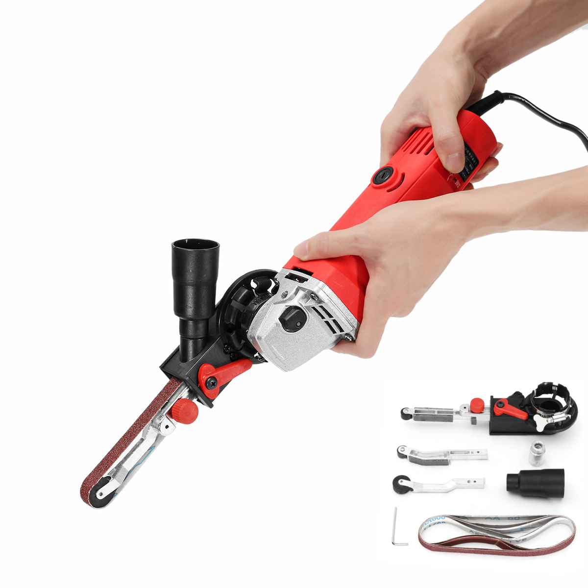 Drillpro Elektrische Winkel Grinder Schleifen Elektrische Schleifen Maschine Power Tool Schleifen Schneiden M10 Mit Schleifen Gürtel 800W