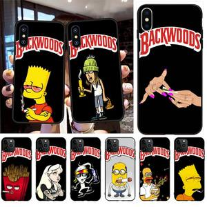 NBDRUICAI Simpson weed smoking backwoods Cover Black Soft Phone Case for iPhone 11 pro XS MAX 8 7 6 6S Plus X 5S SE XR case(China)