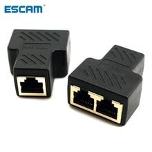 Splitter-Connector-Adapter Stations Ethernet-Network-Cable Docking ESCAM RJ45 Female
