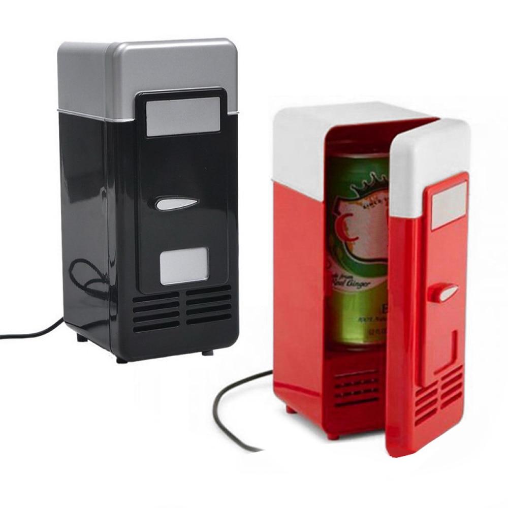 Home Refrigerator Freezer Electric Desktop Fridge Durable Small Black Red Plastic Fruit Juice Ice Buckets Bar Cooling Freezer