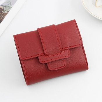 Women Wallets Small Luxury Brand Leather Purse Women Ladies Card Bag For Women 2021 Clutch Women Female Purse Money Clip Wallet image