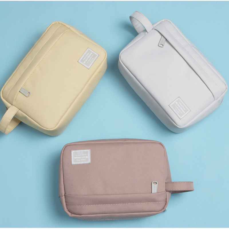 Mr.ace Homme Solid Color Zipper Cosmetic Bag Women Mini Makeup Bag For Girl Travel Make Up Pouch