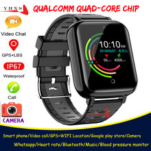 Smart 4G GPS Wifi Student Man Camera Wristwatch Video Call Heart Rate Blood Pressure Monitor Trace Location Android Phone Watch(China)