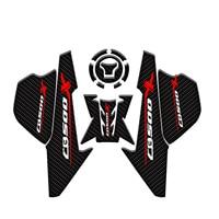 Carbon Fiber Gas Oil Tank Pad Protector Fish Bone Sticker Knee Grip Traction Side Pads For Honda for Honda CB500X 2019