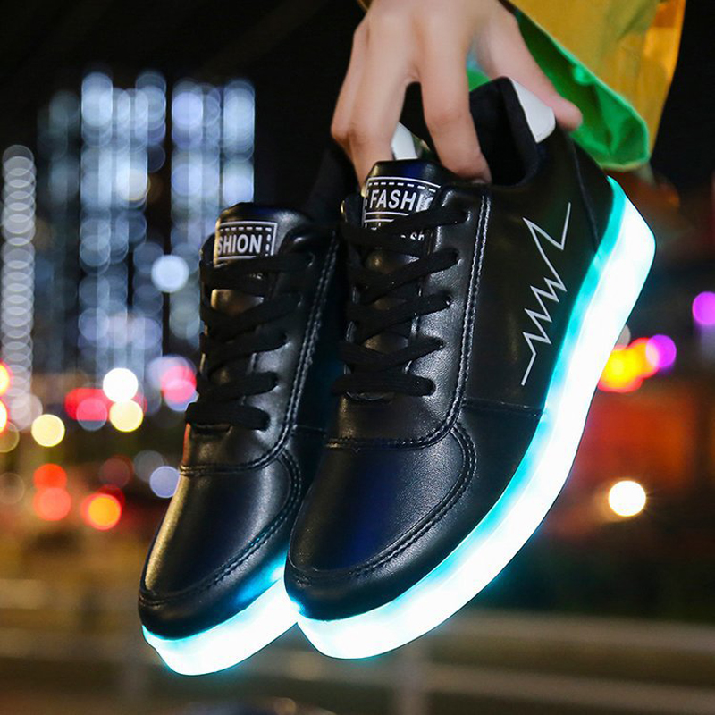 Size 30-44 Children\'S Led Light Up Shoes Luminous Sneakers For Boys&Girls Sneakers With Luminous Sole Children Glowing Shoes