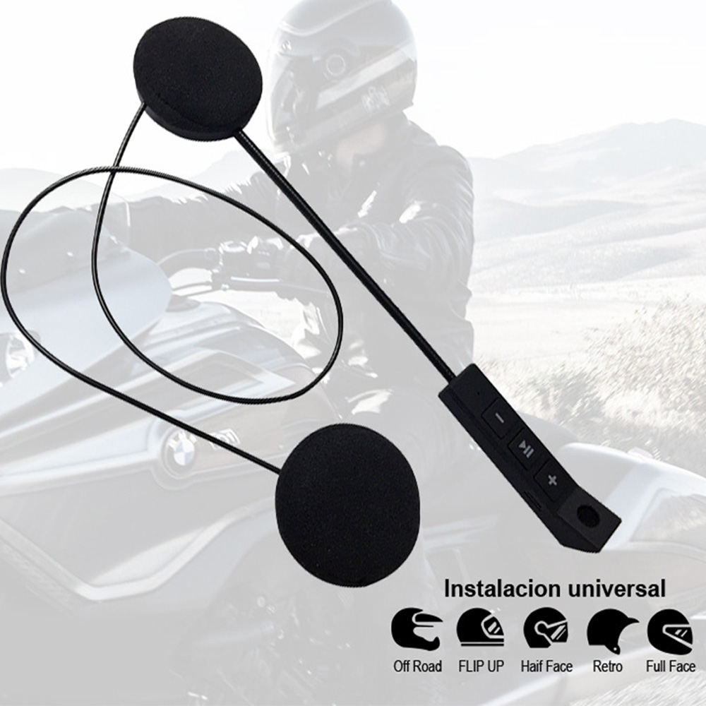 Motorcycle Helmet Earphone Wireless Bluetooth Moto Headset Headphone Speaker Handsfree Music For MP3 MP4 Smartphone