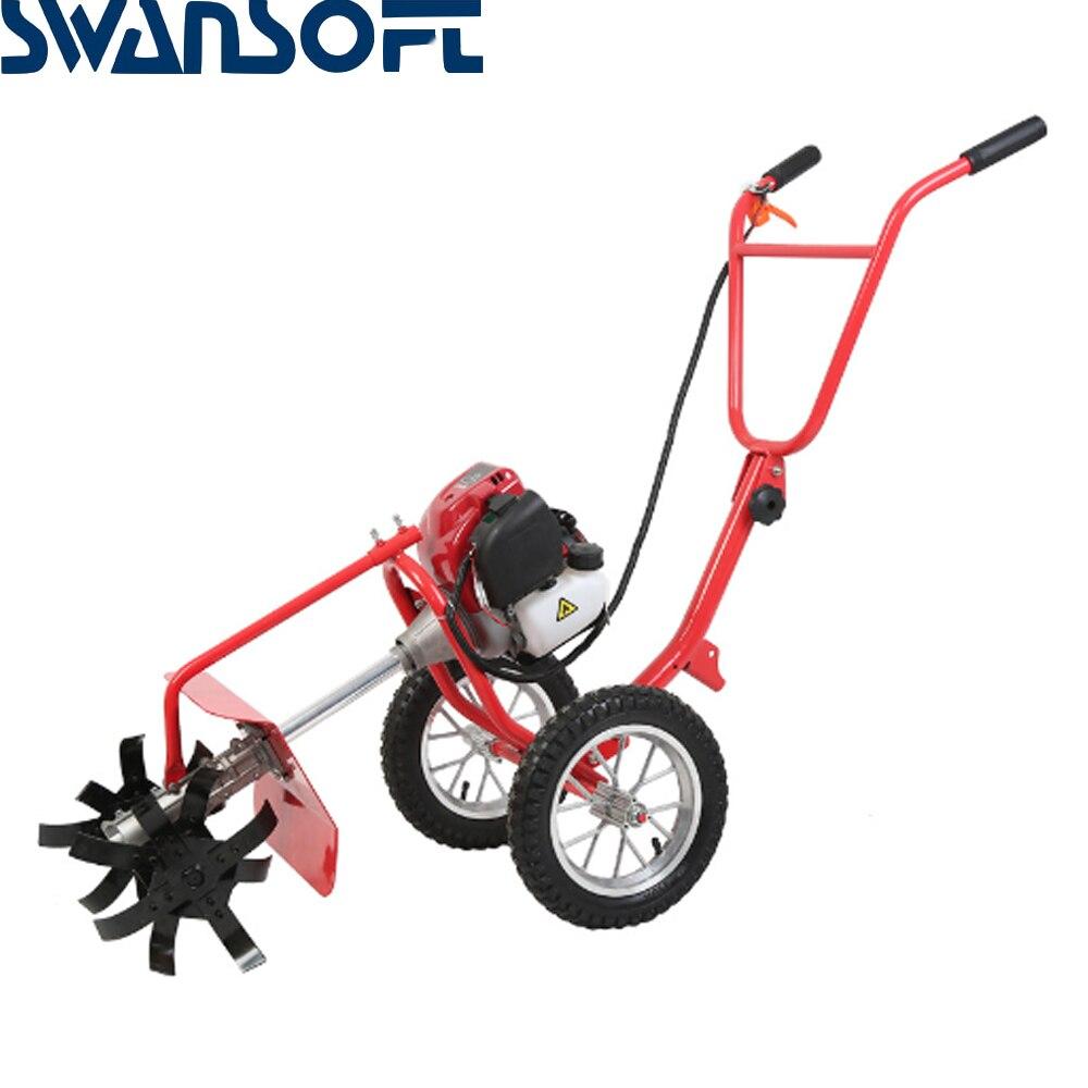 Jardim cortador de grama de jardim Novo impulso mão máquina de vala Multi-purpose agrícola lawn mower Tiller