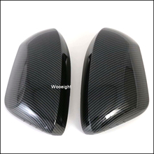 Wooeight 2Pcs Car Carbon Fiber Style Side Rearview Mirror Cover Trim Rear View Mirror Cap Decals Fit for Toyota Corolla 2019 стоимость