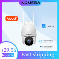 INQMEGA Wifi TUYA Cámara inteligente nube 1080P PTZ cámara IP de exterior seguimiento automático de Google Alexa de vigilancia CCTV cámara de seguridad