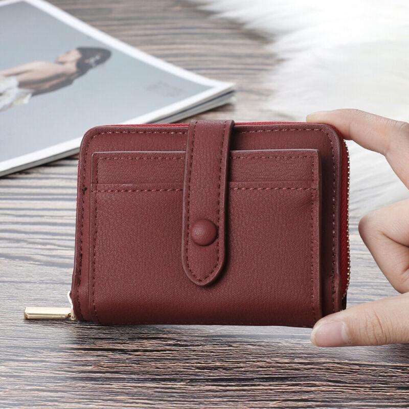 New womens Mens Long Wallets Pockets Card Clutch Bifold Purse Lady PU Wallet