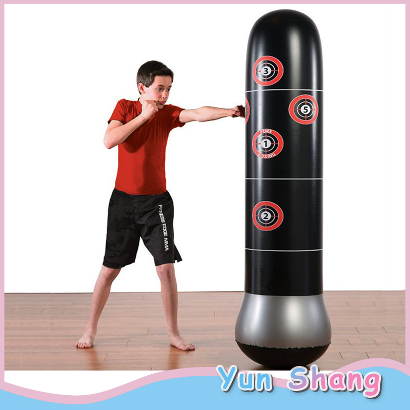 Inflatable Boxing Punching Bag Tumbler Sandbags Fitness Training For Adult Kids