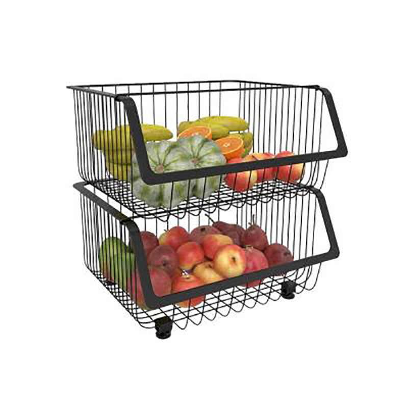 FTM/® Cesta De Almacenamiento De Frutas Y Verduras 2 Capas Tama/ño : 2-Tier Carro De Almacenamiento De Acero Inoxidable para La Cocina 3 Capas Y 2 Capas Opcionales