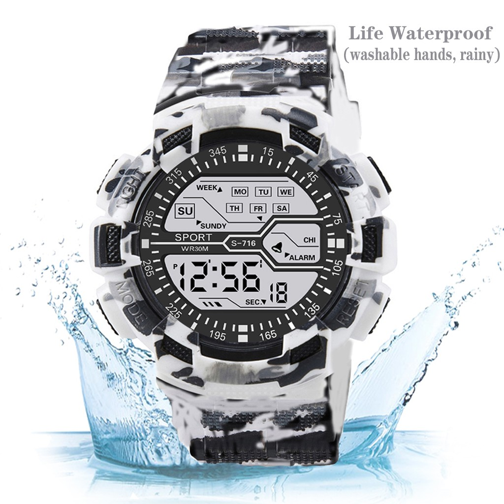 Camouflage Men Sports Watches Luxury Brand Fashion Military Digital Watch LED Electronic Clock Gift For Men Relogio Masculino #X