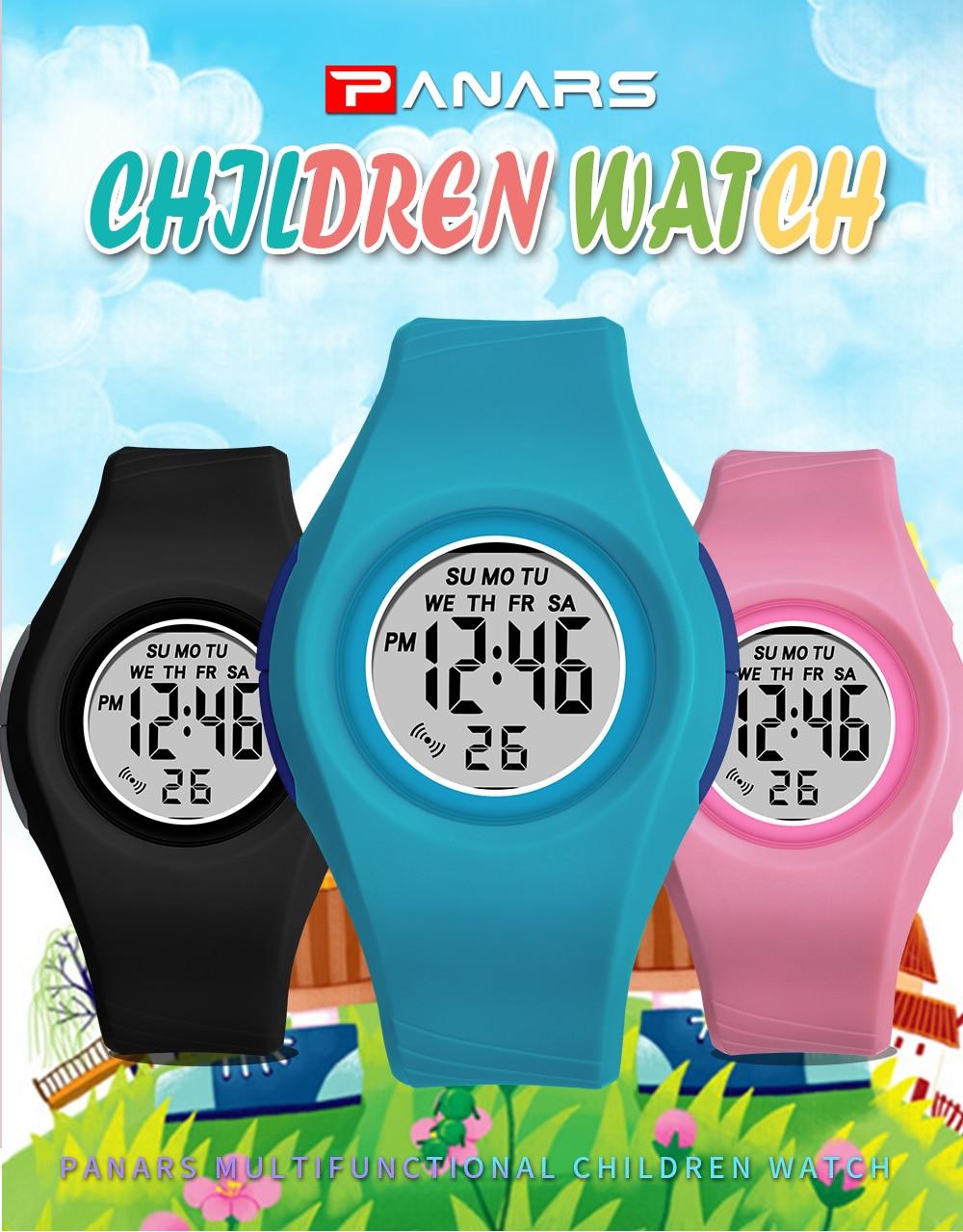 Panars doces cor crianças relógios à prova