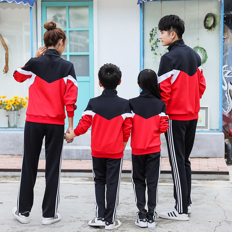 Spring And Autumn Sports Clothing Set Clinquant Velvet Mixed Colors Childrenswear Primary School STUDENT'S School Uniform Kinder