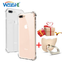 Transparent Silicon Phone Ring Case For iPhone X XS Cover 8 XR Max 7 6 6s Plus Protector