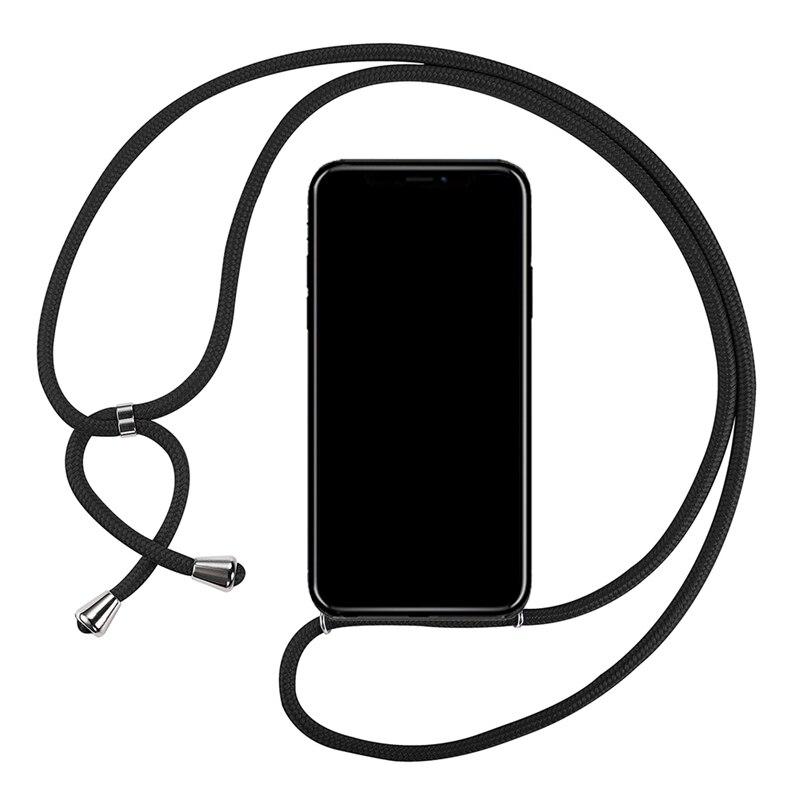 Honor 7A 2ndSpring Funda con Cuerda Compatible con Huawei Y6 2018 Enjoy 8E,Colgante Collar Correa de Cuello Cadena Cord/ón,Plata