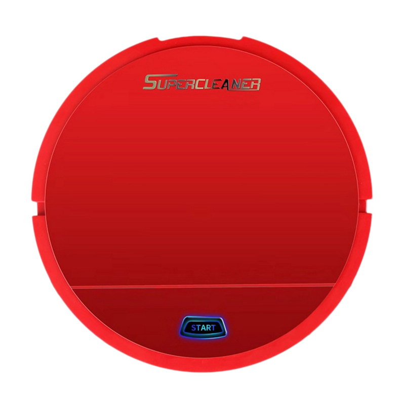 Robot Vacuum Cleaner Wet Cleaner Sweeper Dust Dry Robot And Floor Robot Smart Vacuum Automatic Smart Sweeper Battery Edition Red