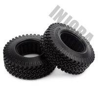 INJORA 4PCS 98MM 1.9 Rubber Wheel Tires for 1:10 RC Rock Crawler Axial SCX10 AXI03007 D90 TF2 Tamiya CC01 1.9 Inch Tyres 3