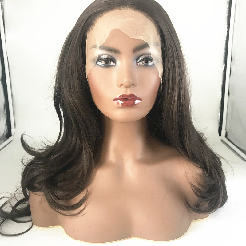 Wholesale Brown Synthetic Wigs For Black Women Beautiful Fiber Wig