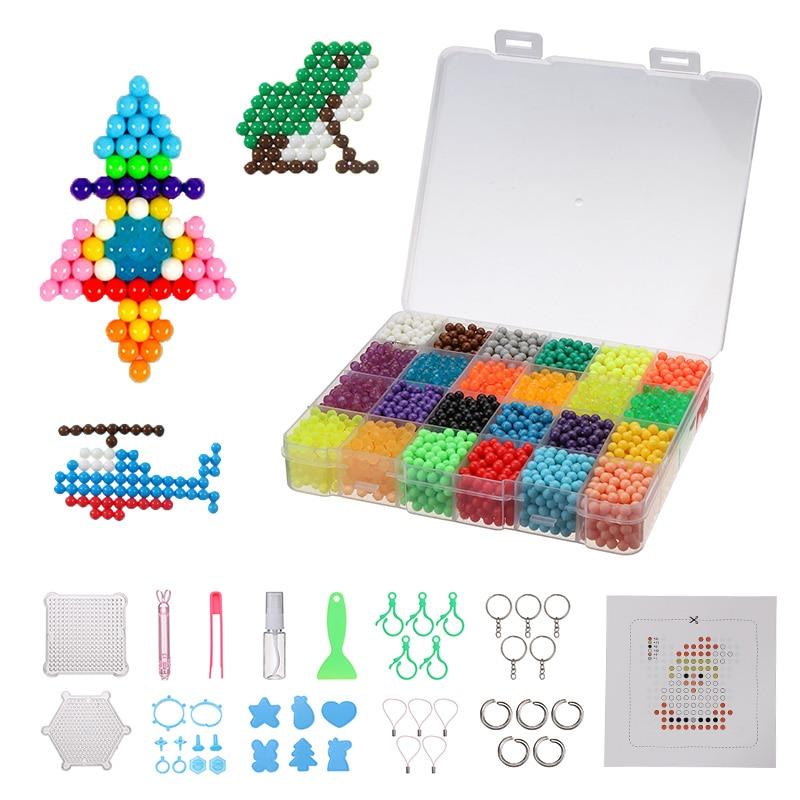 4500pcs Magic Puzzle Toys Water Mist Bead Set Boys Girls DIY Craft Animal Handmade Sticky Beads Educational Toys Kids Gifts