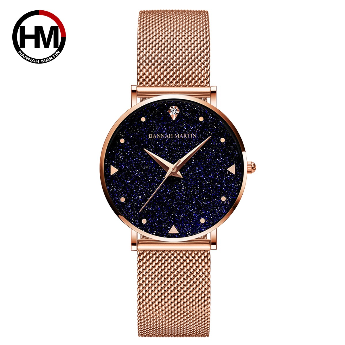 Hannah Martin Starry Sky Women Watches Top Brand Luxury Japan Quartz Movement Stainless Steel Waterproof Watch Relogio Feminino