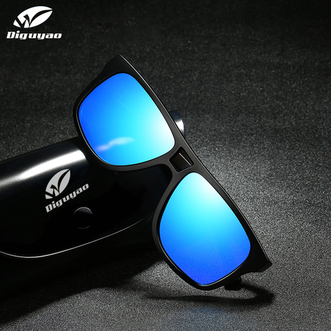 DIGUYAO square sunglasses men polarized shield mirrored sun glasses for male UV400 driving man sunglasses eyewear goggle Karachi