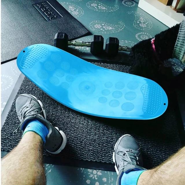 Fitness Balance Board Waist Twisting Boards Yoga Gym Prancha Abdominal Leg BalanceTraining Exercise Workout Equipment 5