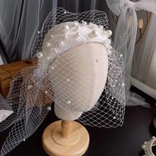 Новая повязка на голову с жемчужинами и поверхностью, свадебный головной убор, макияж, Стайлинг, аксессуары для волос невесты