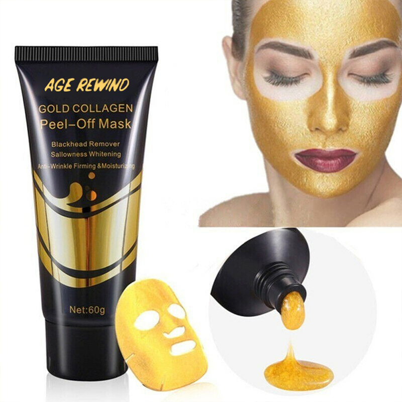 Collagen Facial Mask Peel Off Masks Anti Aging Anti-wrinkle Whitening Lifting Firming To Blackheads Smooth