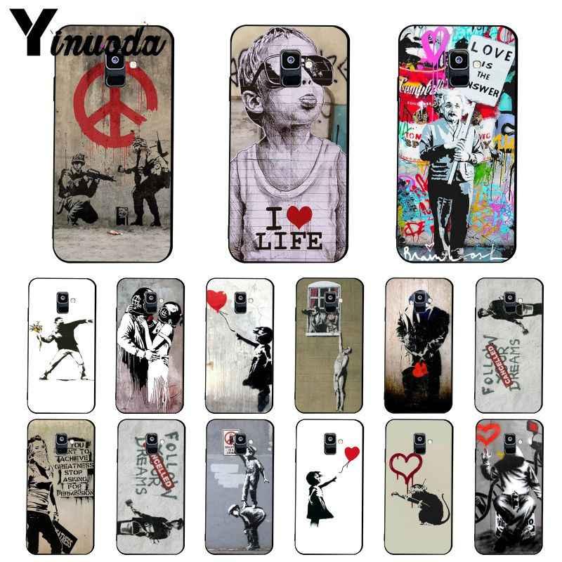 Yinuoda в стиле протестного уличного искусства граффити Тонкий чехол для телефона