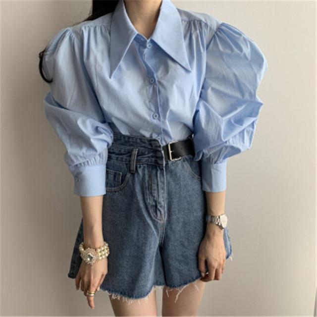 Фото 2020 новое поступление стильная блузка рубашка корейский шик цена