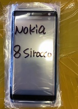 """Tela exterior para nokia 8 sirocco 5.5 """"painel de toque frontal tela lcd para fora da lente da capa vidro reparo do telefone substituir parte"""