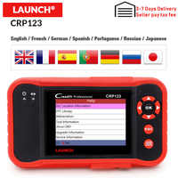 Launch Creader CRP123 OBD2 Auto Diagnostic Tool free Update X431 crp123 ABS/SRS/GearBox/Engine creader crp 123 OBD Coder Reader